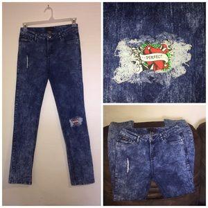ED HARDY skinny distressed jeans